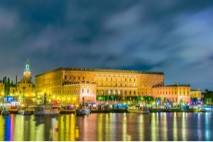 Stockholm Palace by night
