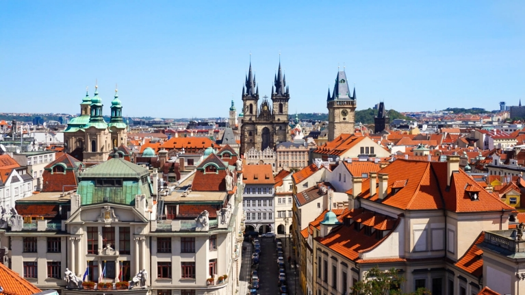 czech republic prague view from klementinum other side