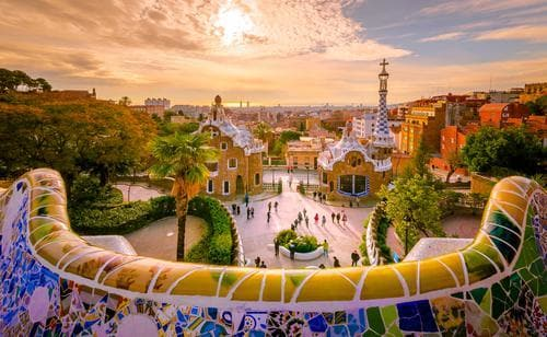 1 week in Europe in the fall | View of Barcelona from Park Guell