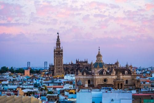 1 week in Europe in the fall | Seville cathedral and rooftops