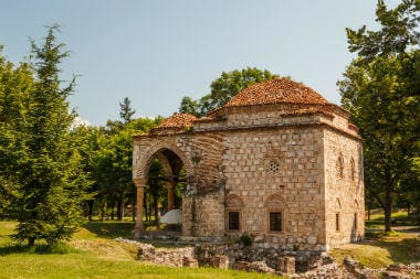 Medieval mosque built over Roman ruins inside fortress of Niš
