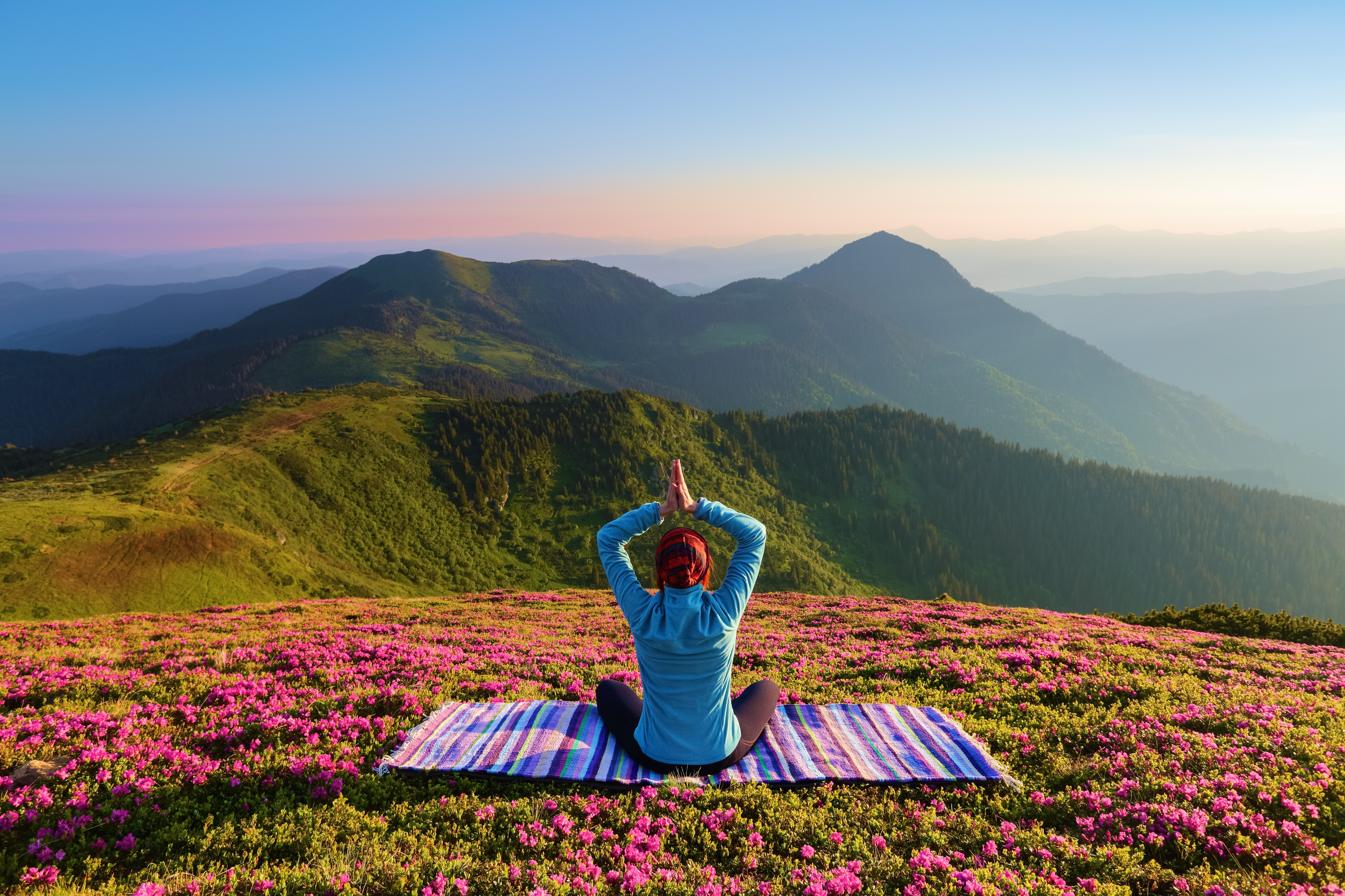 Relax - yoga mountains zen