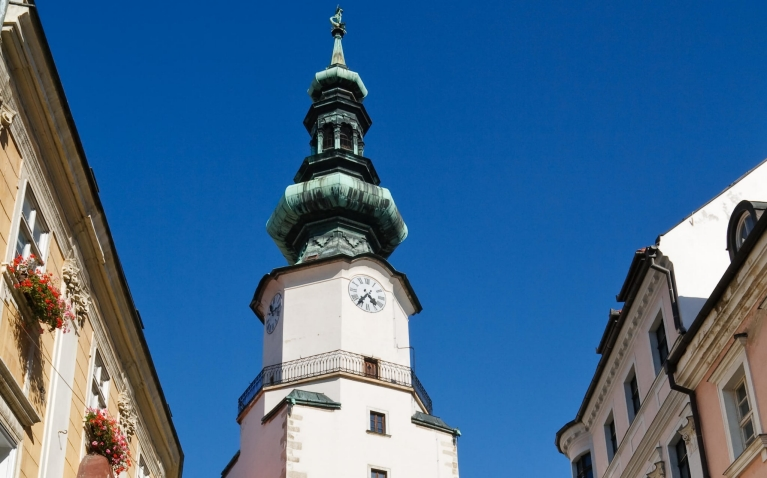 St. Michal Tower in the old town of Bratislava
