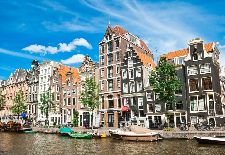 Canals of Amsterdam, the Netherlands