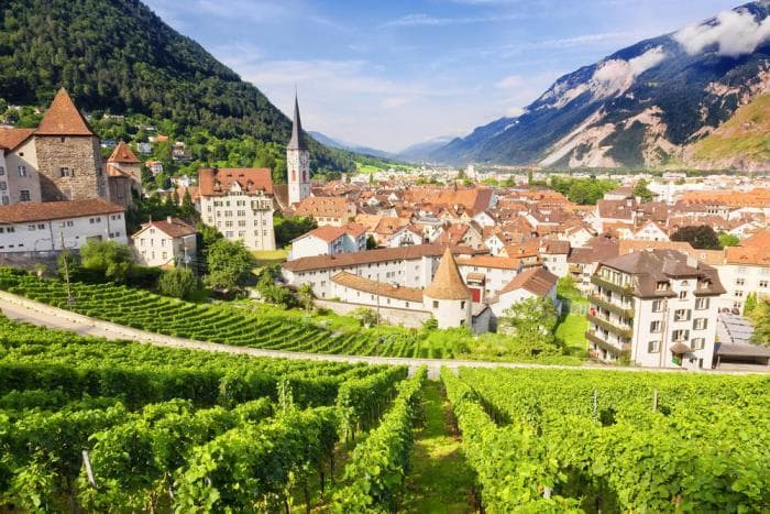 The Bernina Express route begins in Chur, the oldest city in Switzerland.