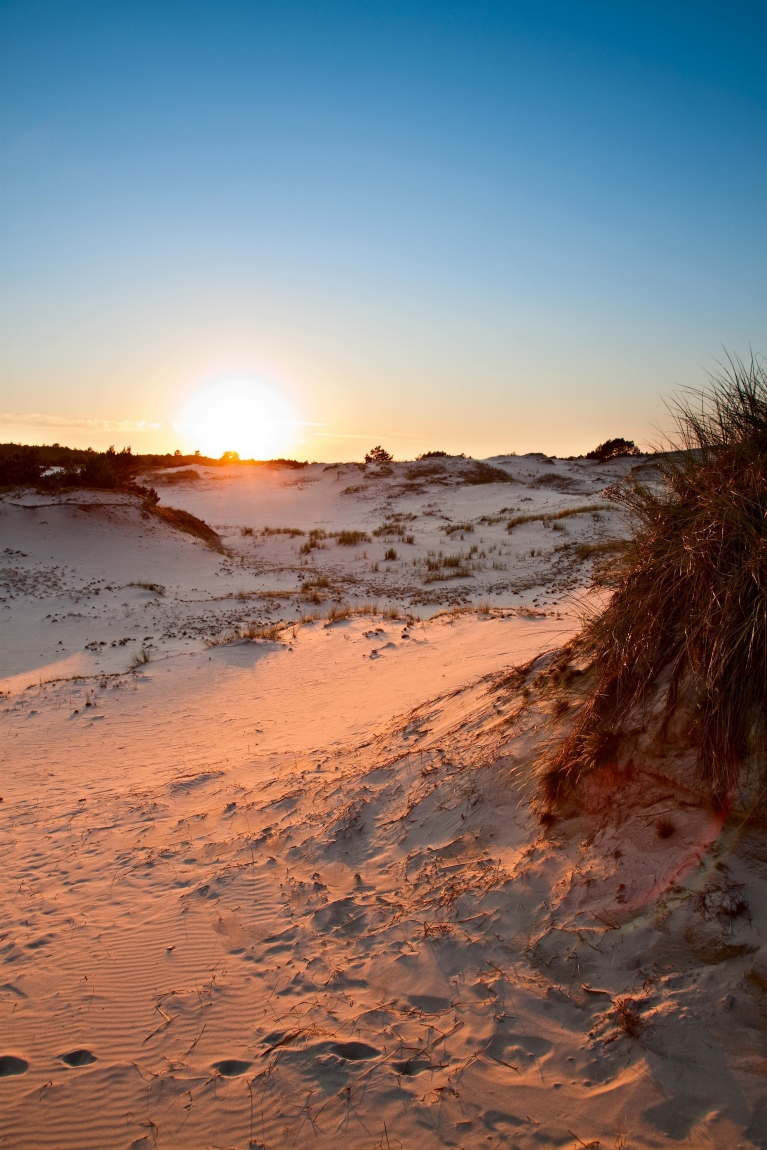 Dunes at sunset, Slowinski National Park