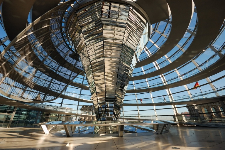 Interior of the Reichstag Berlin