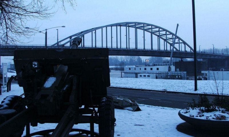 The John Frost bridge in Arnhem