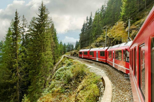Everything about Eurail | Bernina express running from Tirano to the Switzerland