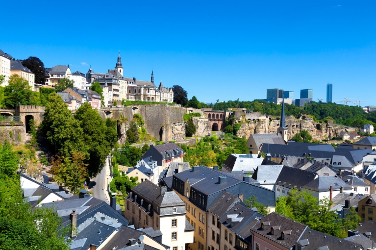 Scenic view of Luxembourg city, Luxembourg