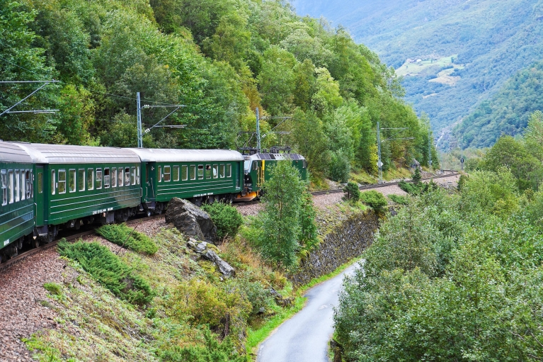 The Flam Railway crossing the mountains