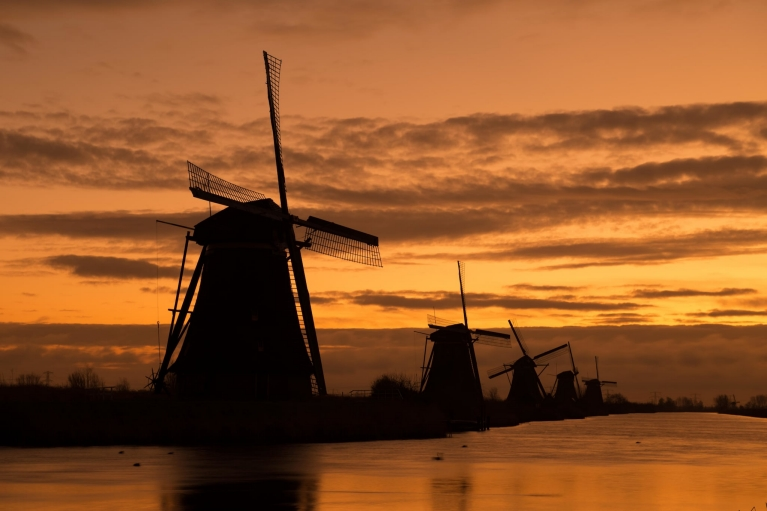 Windmills in Kinderdijk