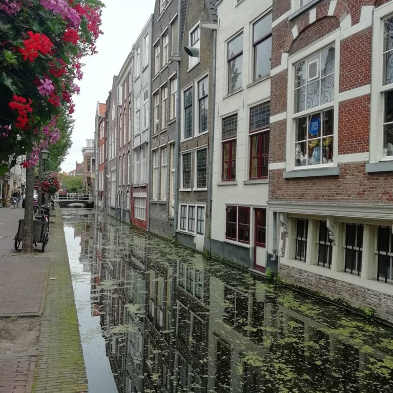 City canal in the Netherlands